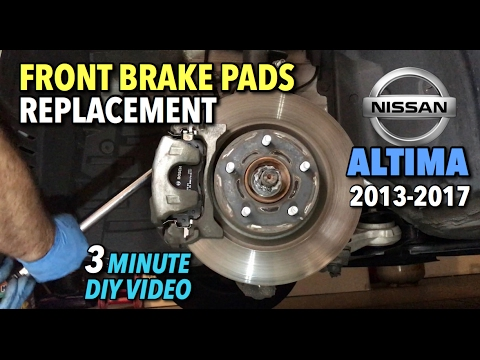 Nissan Altima Front Brake Pads Replacement 2014 2017   3 Minute DIY Video