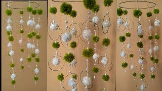 How to reuse old bangles & woolen II Pom pom Wind chime