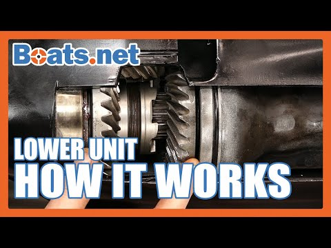 How an Outboard Lower Unit Works | Outboard Lower Unit Cutaway | Boats.net