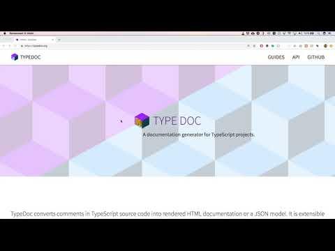 Typescript: generate documentation - YouTube