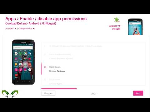 ☑️ Coolpad Defiant Enable Disable App Permissions - YouTube