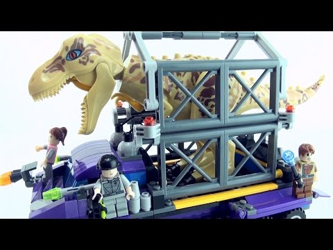 Thumbnail: Tyrannosaurus Rex Capture Vehicle - Lego compatible T-Rex Dinosaur set - Dinosaurs speed build