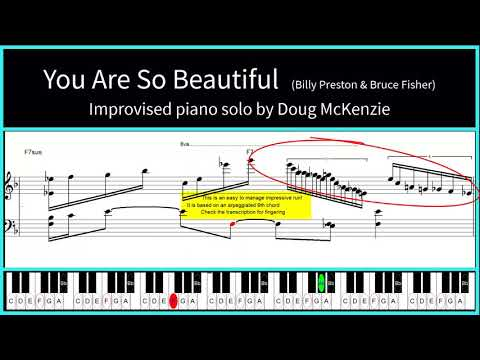 'You Are So Beautiful' (Billy Preston And Bruce Fisher) - Jazz Piano Tutorial