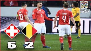 Switzerland 5-2 Belgium Review | Seferović Hattrick Stuns Belgium | UEFA Nations League A2