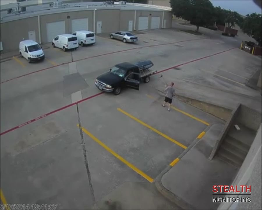 Commercial Real Estate Thief Returns Weedwacker