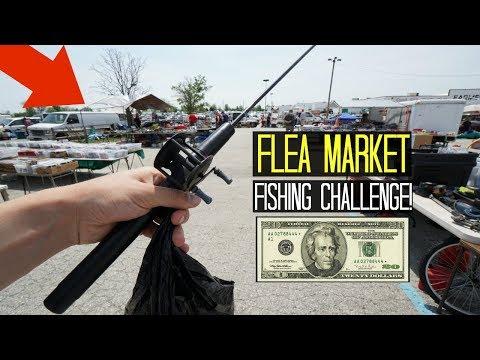 $20 Flea Market Fishing Challenge!! (Crazy Finds!)