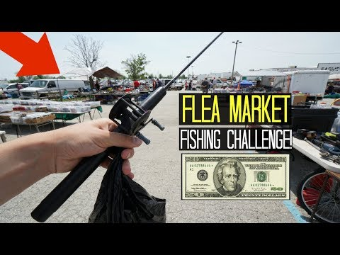 $20 Flea Market Fishing Challenge!! (Crazy Finds!)