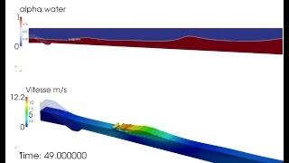 OpenFOAM - 3D simulation of a wave breaker