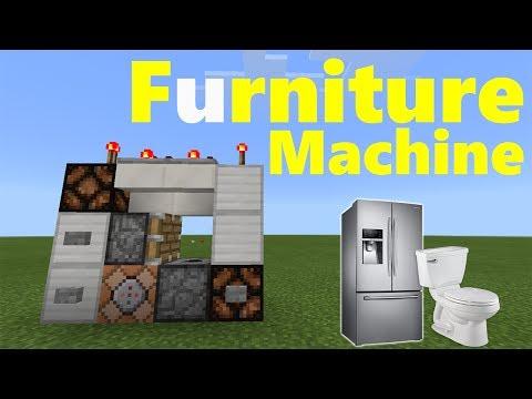 FURNITURE MACHINE TUTORIAL | Minecraft PE (Pocket Edition) MCPE