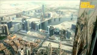 View from 148th floor of Burj Khalifa  At The Top observation deck