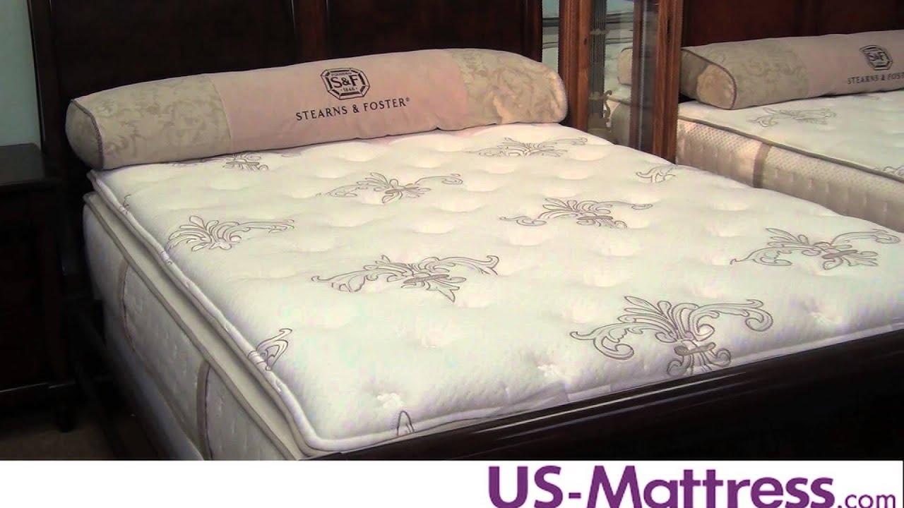 stearns u0026 foster suzette luxury plush euro pillowtop mattress youtube - Stearns And Foster Mattress