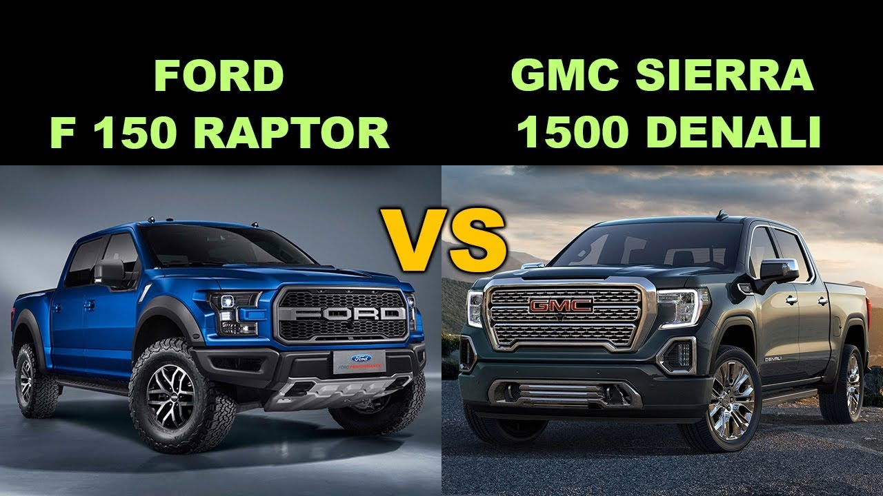 ford f 150 raptor vs gmc sierra 1500 denali youtube. Black Bedroom Furniture Sets. Home Design Ideas