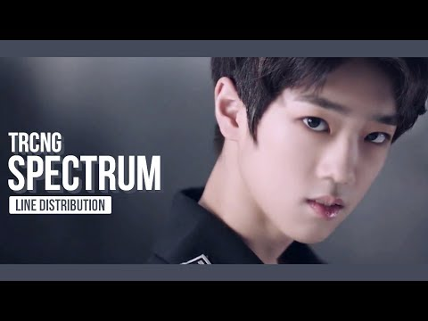 TRCNG - Spectrum Line Distribution (Color Coded)