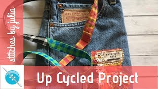 Crossbody Purse Made from Jeans! An Up Cycled Project