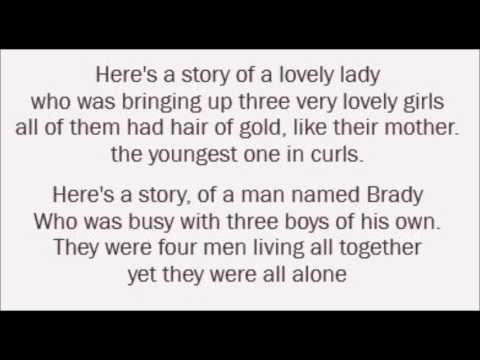 The Brady Bunch Theme Song - Frank De Vol (Lyrics)