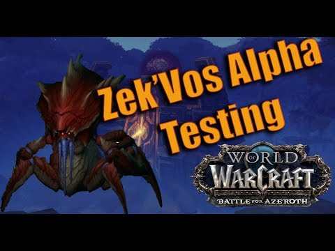 Battle for Azeroth : Uldir Zek'vos Raid Testing - Demonology Warlock with Logs and Analysis