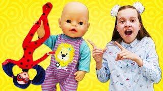 Леди Баг иБарби против великана вползунках! Новое видео для детей: Как Успокоить Ребенка!