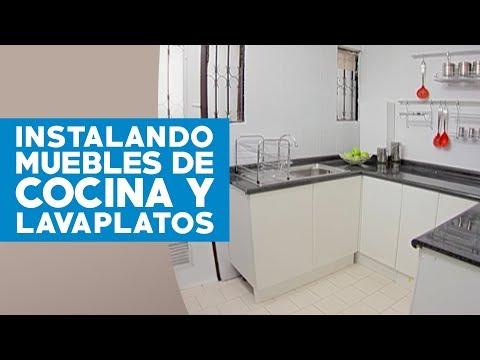 Cómo instalar muebles de cocina y lavaplatos? - YouTube