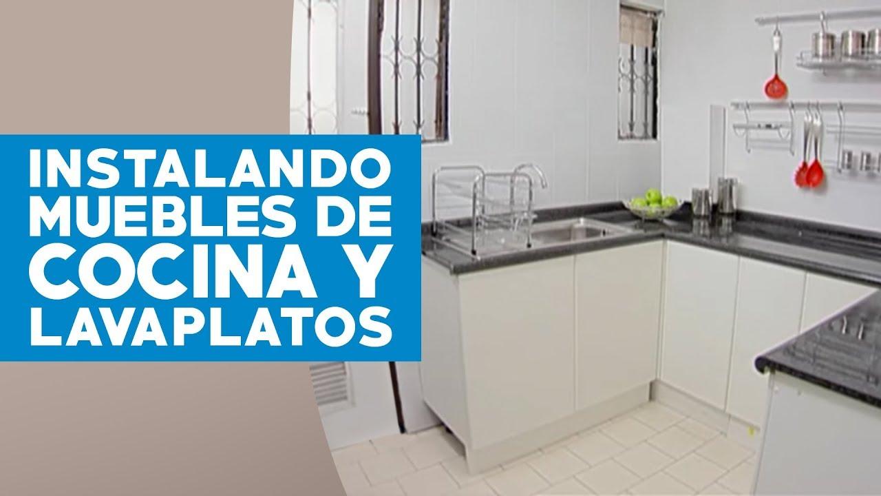 Cmo instalar muebles de cocina y lavaplatos  YouTube
