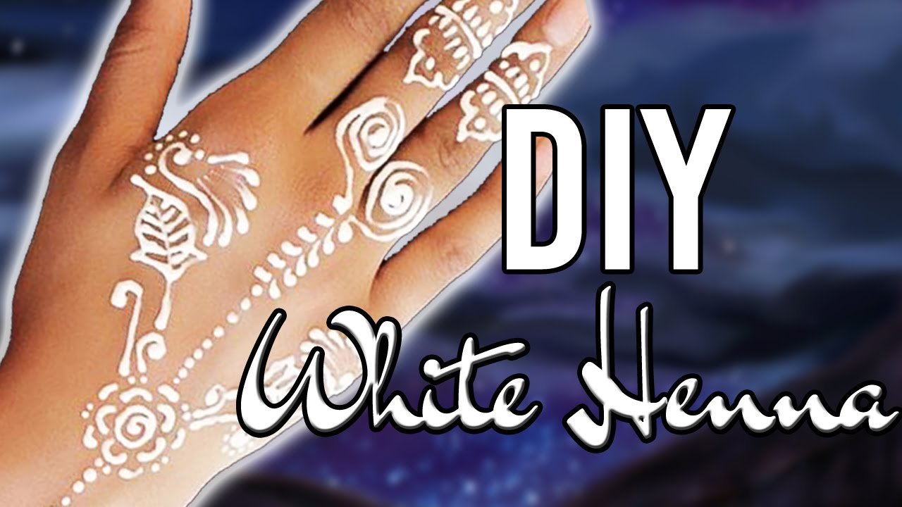 Diy Henna Tattoo Ink Without Henna Powder: EASY DIY WHITE HENNA