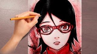 SARADA UCHIHA Drawing Boruto: Naruto the Movie Rysunek