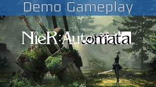 nier automata demo gameplay hd 60fps