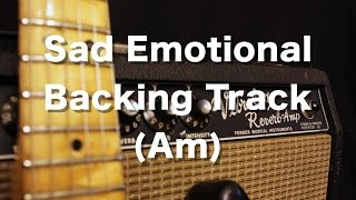 Cover images Sad Emotional Backing Track in A minor (Am)