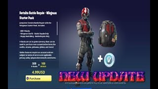 FORTNITE NEW UPDATE NEW WINGMAN STARTER PACK PLUS FREE V-BUCKS( XBOX ONE, PS4,PC)