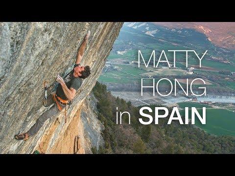 Matty Hong climbing in Spain