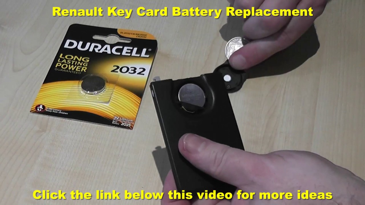 Renault Key Card Battery Replacement Youtube