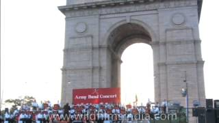 Army band concert at India Gate, Delhi