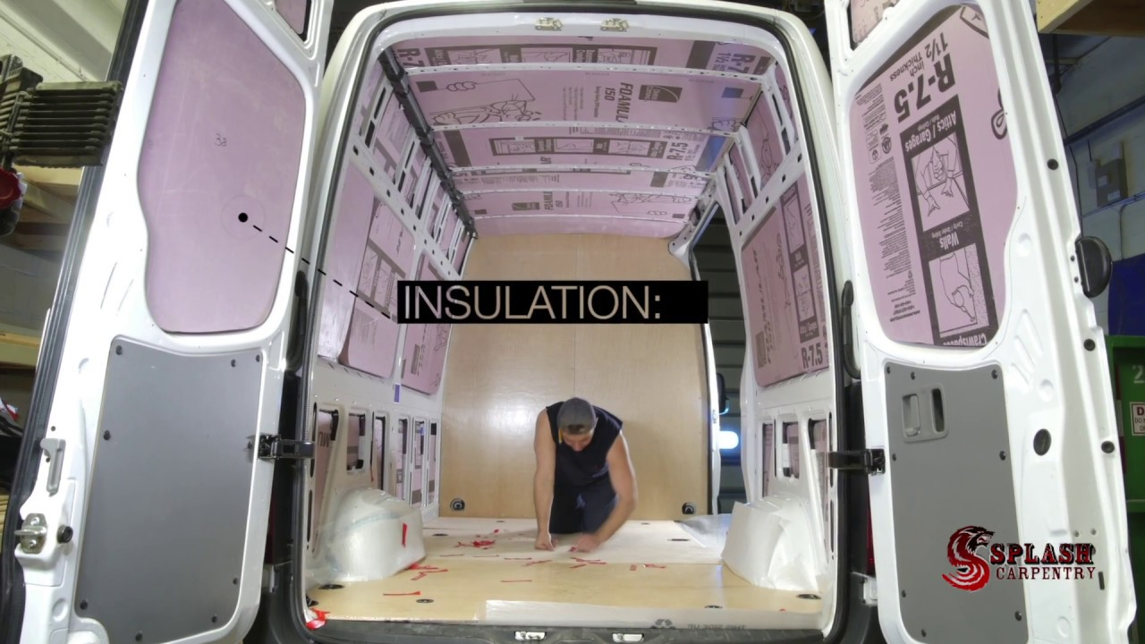 Van Partition Insulation Paneling And Shelving Kit Sprinter 2500 High Roof