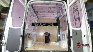 Van partition, insulation, paneling and shelving kit Sprinter 2500 High Roof