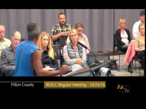 Board of County Commissioners Regular Meeting BOCC October 26, 2016