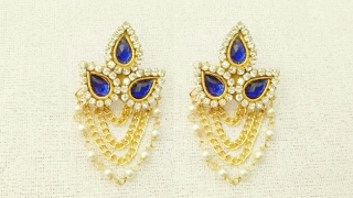 How To Make Designer Earrings // How To Make Bridal Earrings // Paper Jewellery Making //DIY