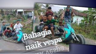 Download Mp3 Anak Kecil Naik Vespa Extreme Trikel #banyuwangi