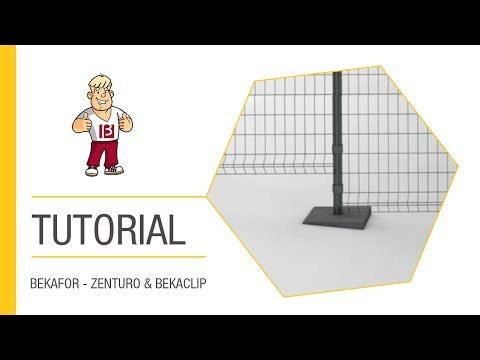 How to install Bekafor Classic fencing panels on a slope | Betafence
