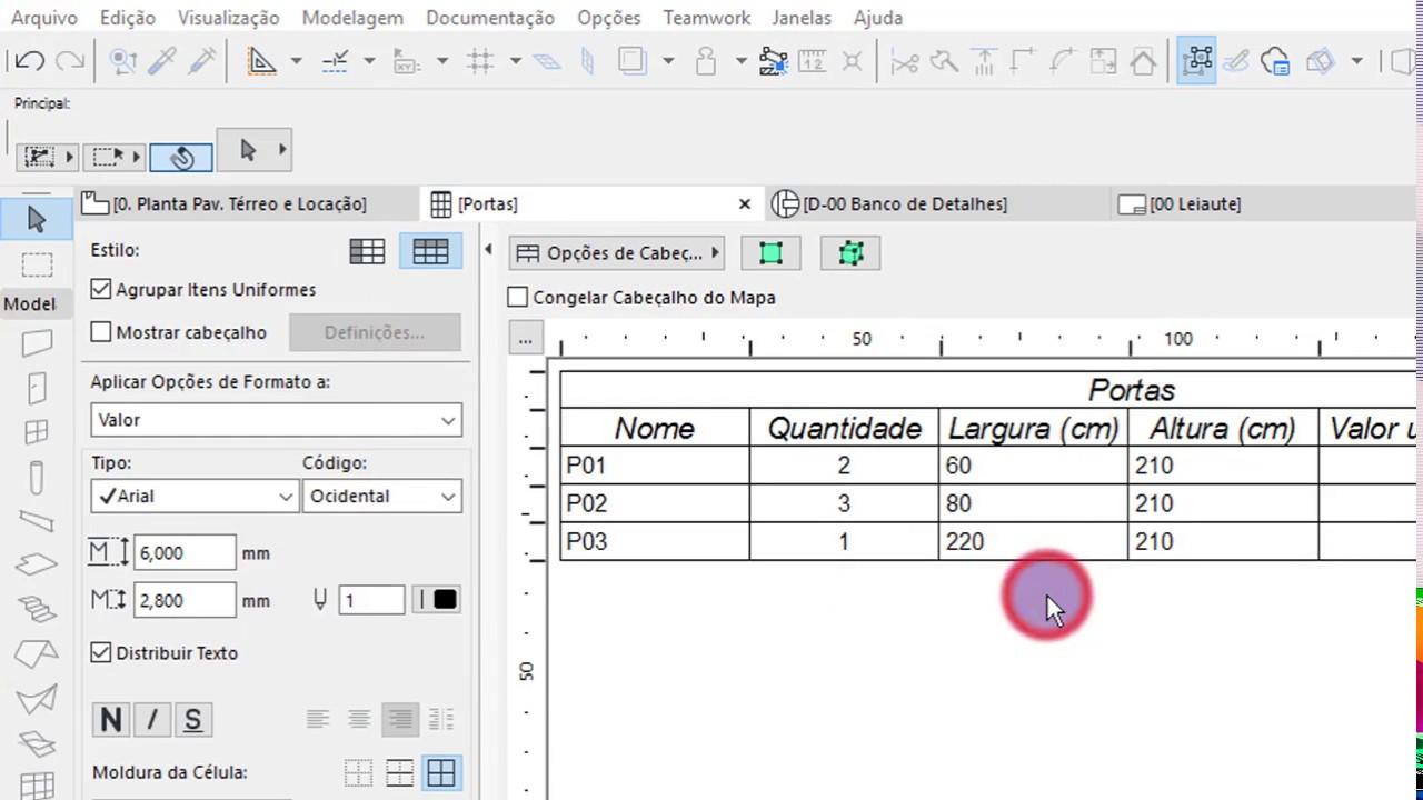 ArchiCAD 20 - [dica] tabelas com fórmulas - YouTube