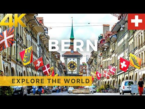 Walking In BERN 4K, Switzerland