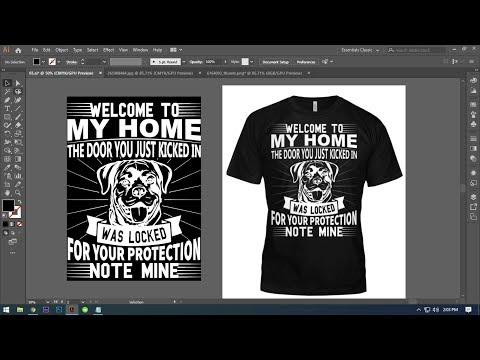 T-shirt design tutorial Adobe illustrator। Dog T-shirt Design  adobe illustrator cc 2019 thumbnail
