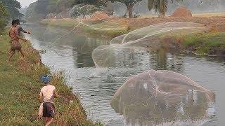 Amazing fishing videos | Serial fishing with 4 fishermen | BIGGEST CATFISH FISHING