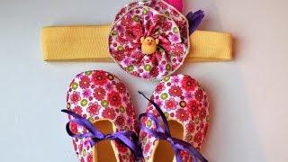 Zapato reversible DIY en tela para bebé + patron PDF GRATIS
