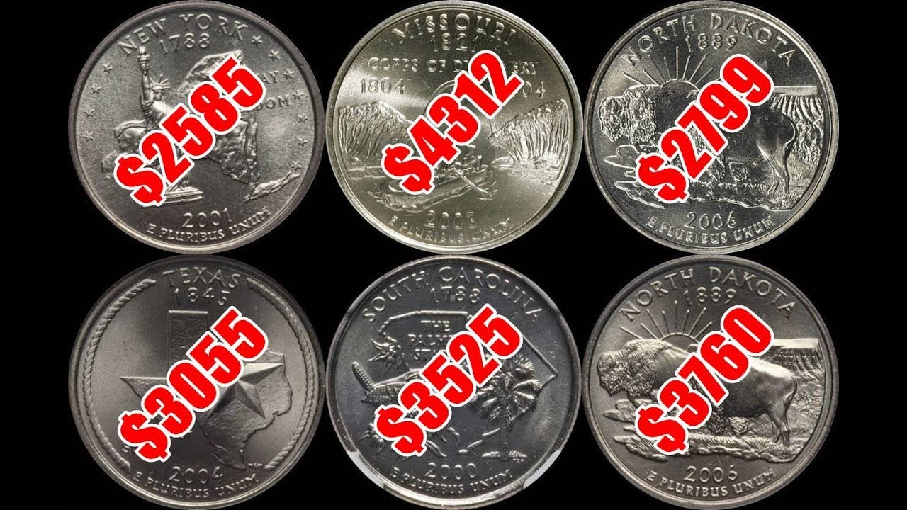 TOP 10 Most Valuable US State Quarters - High Grade Examples Sell for BIG  Money!