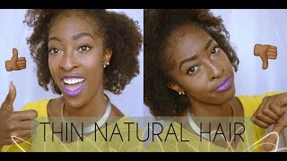 Pros and Cons of Thin Natural Hair