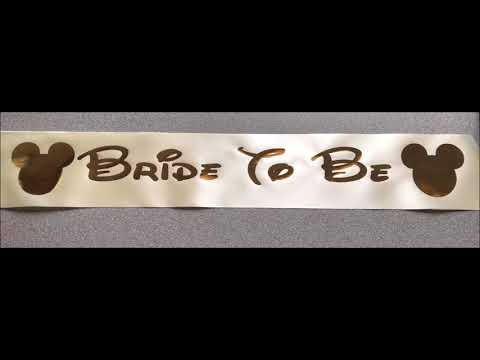 Applefords Gifts personalised sash for a bride to be hen party