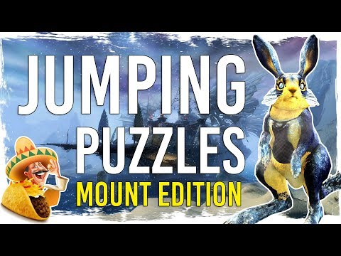 Guild Wars 2 Jumping Puzzles - Mount Edition - 25 Cheesy Shortcuts with TacO Markers