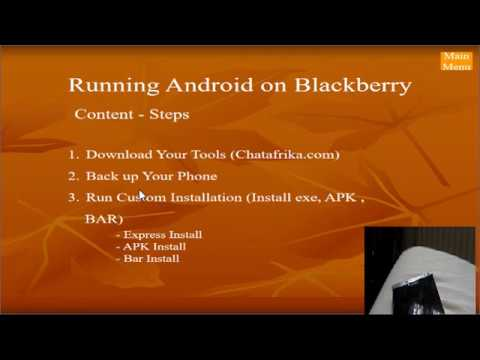 Run Android On Blackberry (Backup & Restore) Passport Or Classic