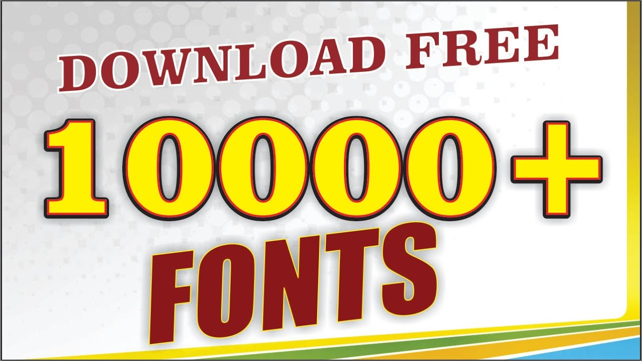 How to Download 10000+ Fonts Free For Coreldraw ...