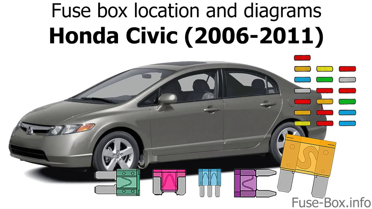 Fuse box location and diagrams: Honda Civic (2006-2011) - YouTube  YouTube