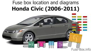 [DIAGRAM_3ER]  Fuse box location and diagrams: Honda Civic (2006-2011) - YouTube | Fuse Box For 2006 Honda Civic |  | YouTube